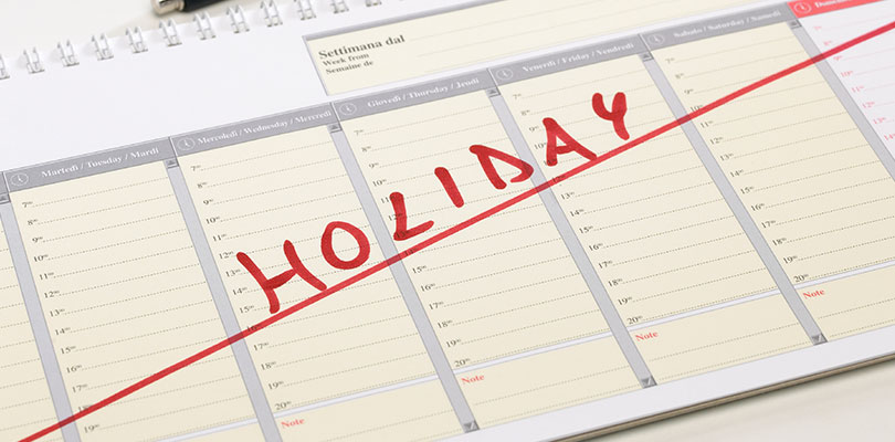 Define Your Holiday Period