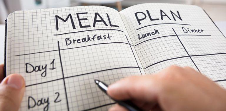 A meal plan journal